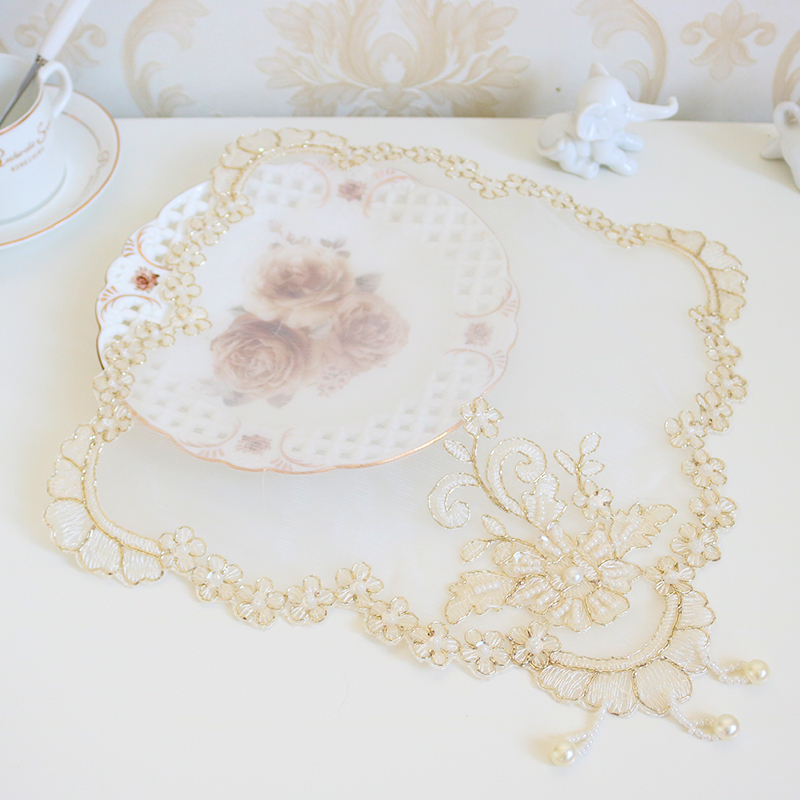 Hot Promo D1bd New Korean Mesh Gold Thread Embroidery Bead