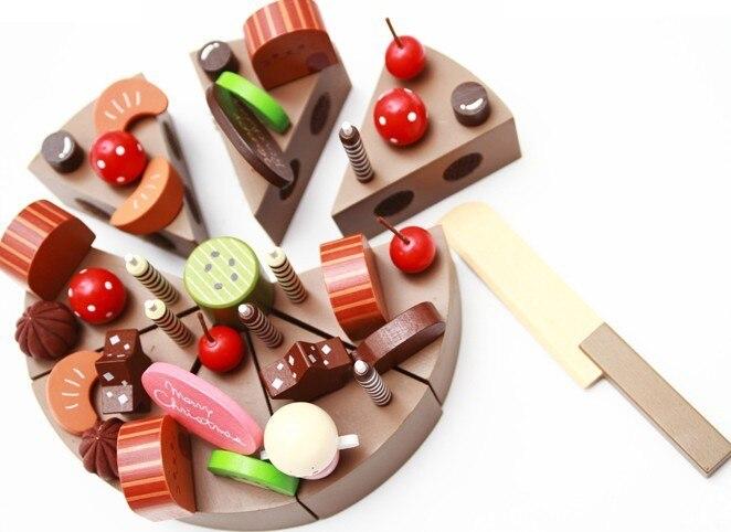 Perfect Baby Spielzeug Geburtstag Schokolade Kuchen Holz Spielen Simulation  Kuchen Baby Pretend Spielen Spielzeug Klassisches Spielzeug Geschenk In  With ...
