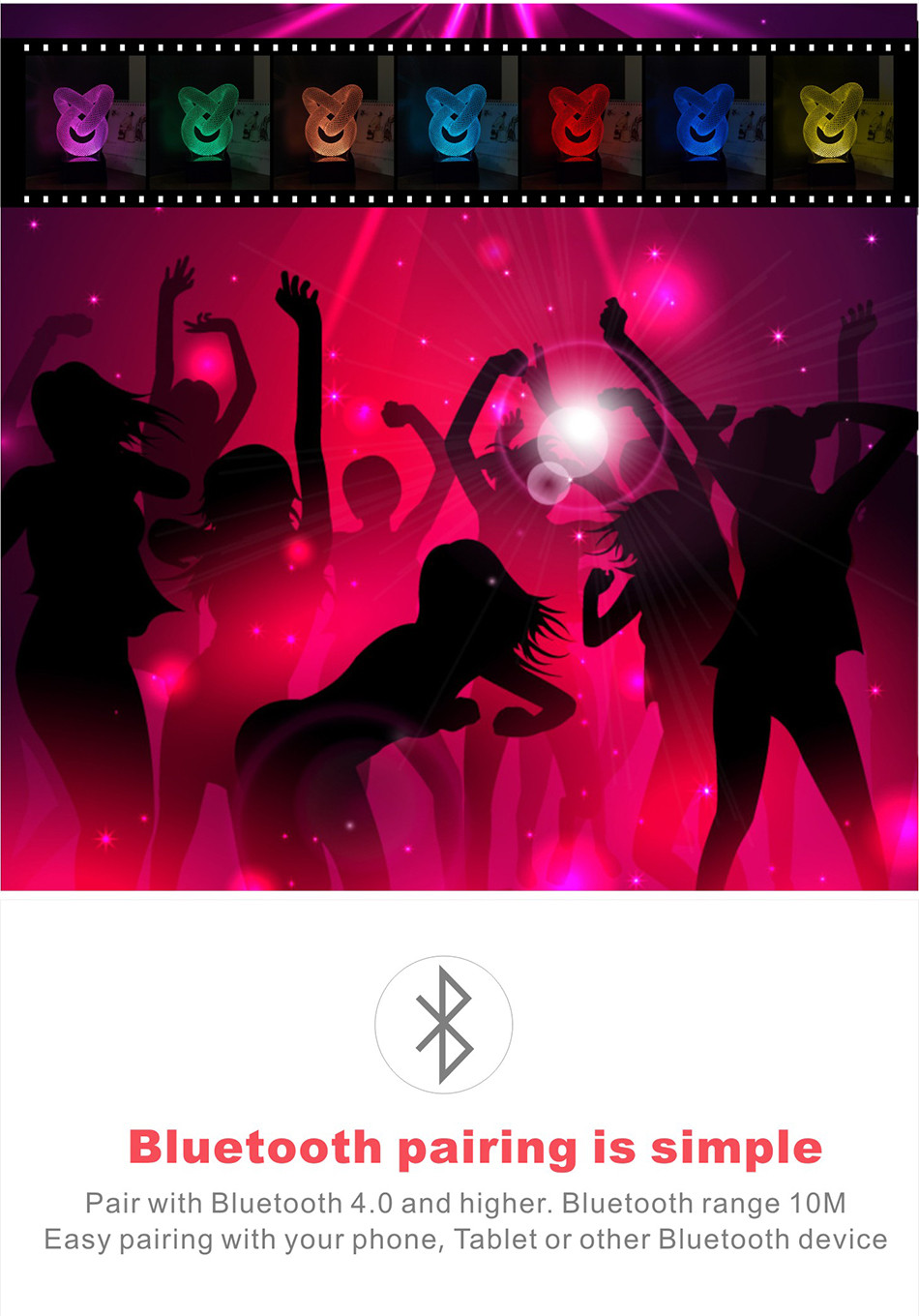 Novelty Christmas Light for Chiese Knot 3D Led Besides Lamp Music NightLights with Bluetooth Speaker (5)