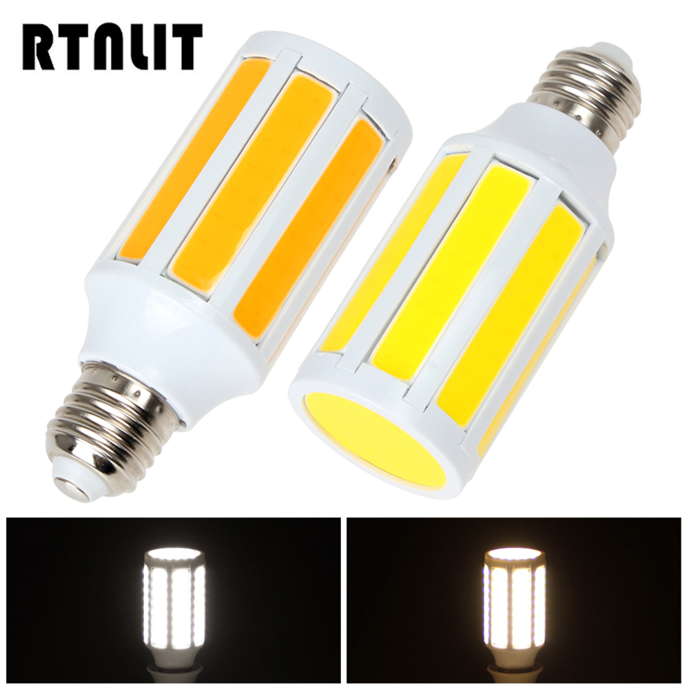 E27 15W Cob LED Bulb LED Corn Light Bulb White / Warm White Energy Saving LED Lamp 360 Degree Angle 680lm mr16 7w cob warm white led spot bulb energy saving light 85 265v