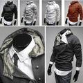 Mens Casual Thicken Warm Hoodie Jacket Coat Rabbit Fur Collar Outwear Fleece Hoodies