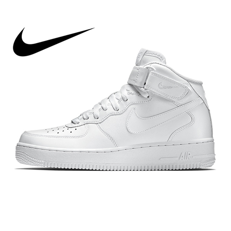 Original authentic Nike Air Force 1 AF1 Men's Skateboard Classic High-top  sneakers Non-slip wear-resistant breathable 315123-111