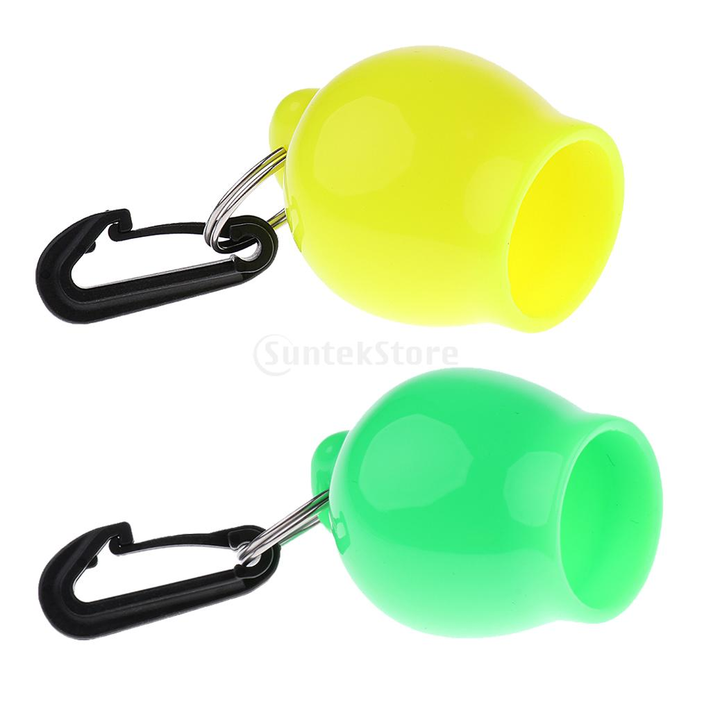 2Pcs Scuba Dive Regulator Octopus Holder Retainer Snorkel Skum-Ball Mouthpiece Cover with Clip Diving Snorkelling Equipment Gear