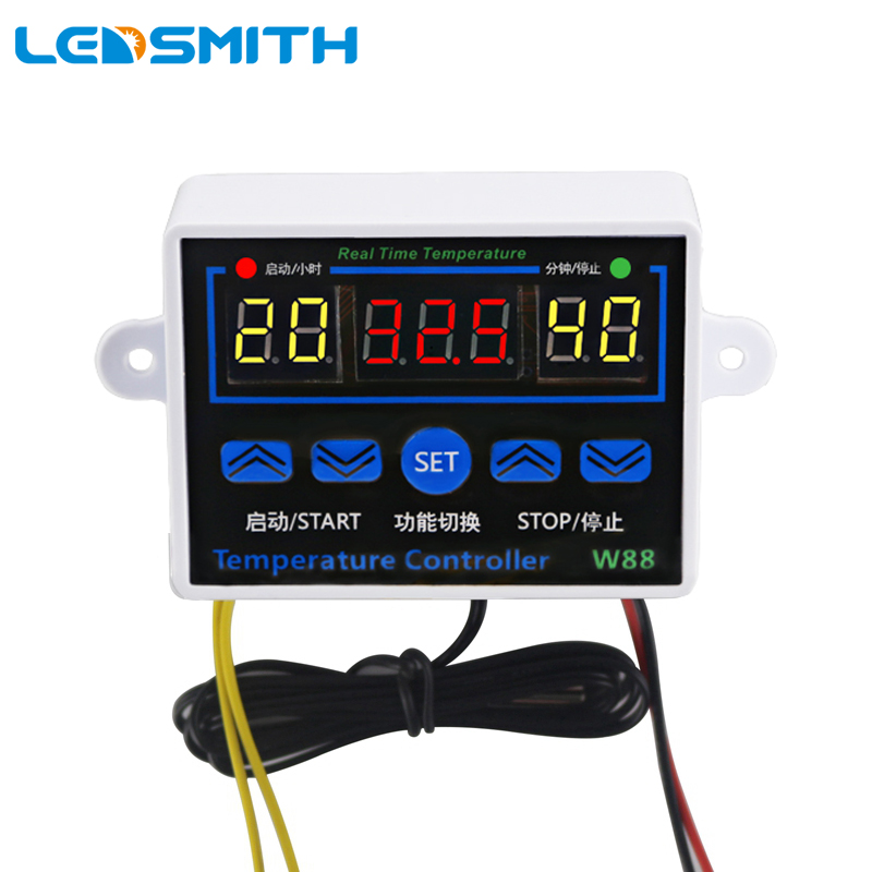 Digital Thermostat DC12V W1218 Temperature Controller For Incubator w// Probe Red