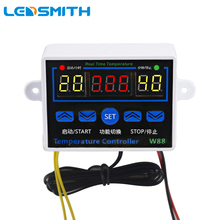 LEDSMITH W88 110V 220V Digital Thermostat Temperature Controller Thermoregulator for incubator Relay 10A Heating Cooling Control