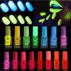 1pcs 20colors Candy Nail Art Luminous Paint Nail Polish Neon Nail Lacquer, Luminous Fluorescent Nail Polish Glow In The Dark