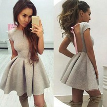 2019 Fashion Women Lace Up Party Dresses Hollow Out Short Sleeve Casual Dress Solid Backless Mini Dress navy lace hollow out short sleeves mini dresses with lace up design
