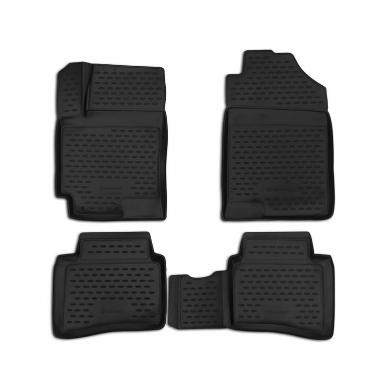 Tapetes de carro 3D salão Para KIA RIO 06/2017->, Sedan/Хб. (X-Line), 4 PCs (poliuretano)