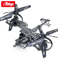 AttopYD 711 4 Channel Big RC Drone Aircraft Large Model Remote Control Helicopter Quadcopter Avatar Plane