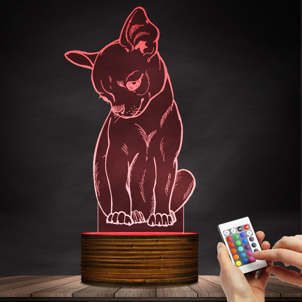 1Piece Cute Little Dog Chihuahua Breed Portrait 3D illusion Night Light With Color Changing Animal Pet Puppy Bedroom Table Lamp cute stripe style dog pet apparel 2 leg holes with hat backpacks color assorted size m
