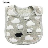 10PCS AGLDI Brand Baby Girl Boy Waterproof Cartoon Towel Kids Toddler Dinner Feeding Bibs Bandanas Burp