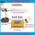 Conjunto completo Display LCD HOT 3G W-CDMA 2100 MHz Sinal de Telefone Celular impulsionador 3G 2100 Repetidor de Sinal UMTS Amplificador Yagi Antena + Cabo