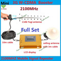 Pantalla LCD Conjunto completo CALIENTE 3G W-CDMA 2100 MHz Señal de Teléfono Celular Booster 3G 2100 UMTS Repetidor de Señal Amplificador Antena Yagi + Cable