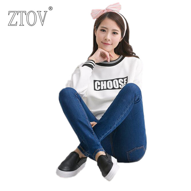 ZTOV Plus Size Elastic Waist Cotton Maternity Jeans Pants Pregnancy clothing For Pregnant Women Autumn Winter trousers clothes