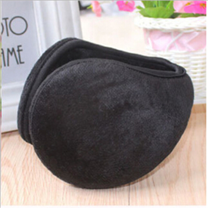 Fashion Winter Warmers Ear Muffs Behind The Head Band Flannel Man Women Earwarmers Outdoor Simple Design