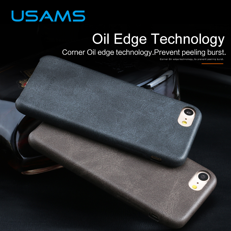 For iPhone 7 Leather Case font b USAMS b font Bob Series Reinforced Dirt Shock Proof