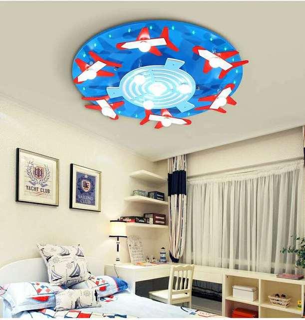 US $198.0 |Children\'s bedroom lights LED ceiling lamp modern creative  cartoon dream aircraft lights blue pink ceiling light ZA98529-in Ceiling  Lights ...