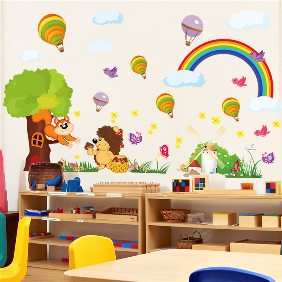 Buy rainbow wall stickers and get free shipping on aliexpress amipublicfo Images
