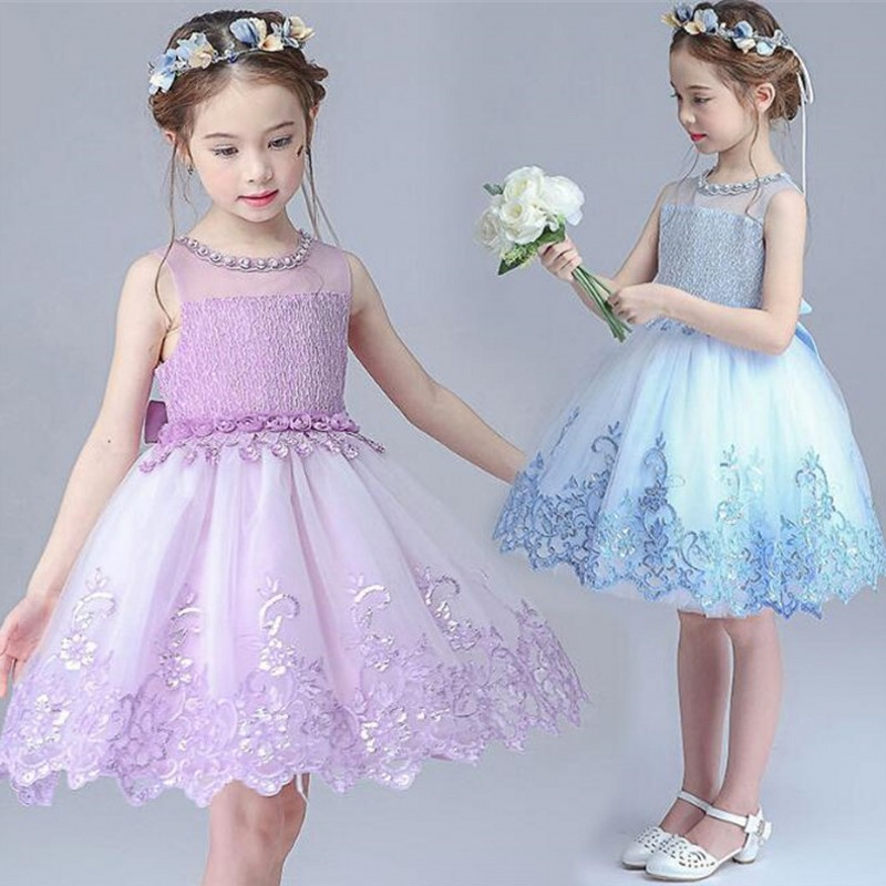 Kids Wedding Summer Party Dresses For Girls Lace Birthday Princess Christmas Costume 2017 Brand Baby Girl Children Clothes 3-14Y new girls flowers dress for wedding and party summer baby clothes princess kids dresses for girl children costume 3 10t w1625133