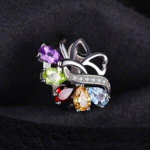 Image 3 - Jewelrypalac天然アメジストシトリンガーネットペリドットトパーズリング 925 スターリングシルバーリング女性用シルバー 925 宝石ジュエリー