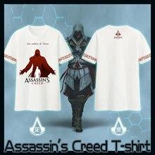 [Disponible] Juego Anime Cosplay Assassins Creed camiseta S-XXL Del Verano Top Tee camisa de Algodón NUEVO 2017