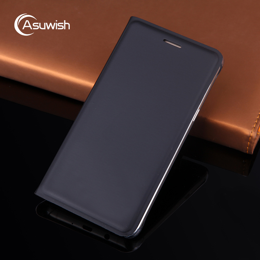 Asuwish Flip Case Leather Cover For Samsung Galaxy J5 2016 J5 2015 J 5 SM J500 J500F J500FN J510 J510F J510FN SM-J510 Phone Case