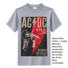 Rock n' Roll Ain't No Nosise Pollution AC/DC back in black modal t shirt vintage fashion brand new rock tee