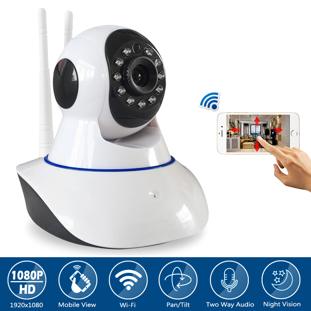 2MP Wireless Security Full HD 1080P IP Camera Wifi Indoor Baby Monitor CCTV Home Surveillance IR Night Vision Audio Recording annke 4ch 720p hd nvr wireless ip network cctv home security camera system 4pcs wifi surveillance camera ir cut indoor outdoor