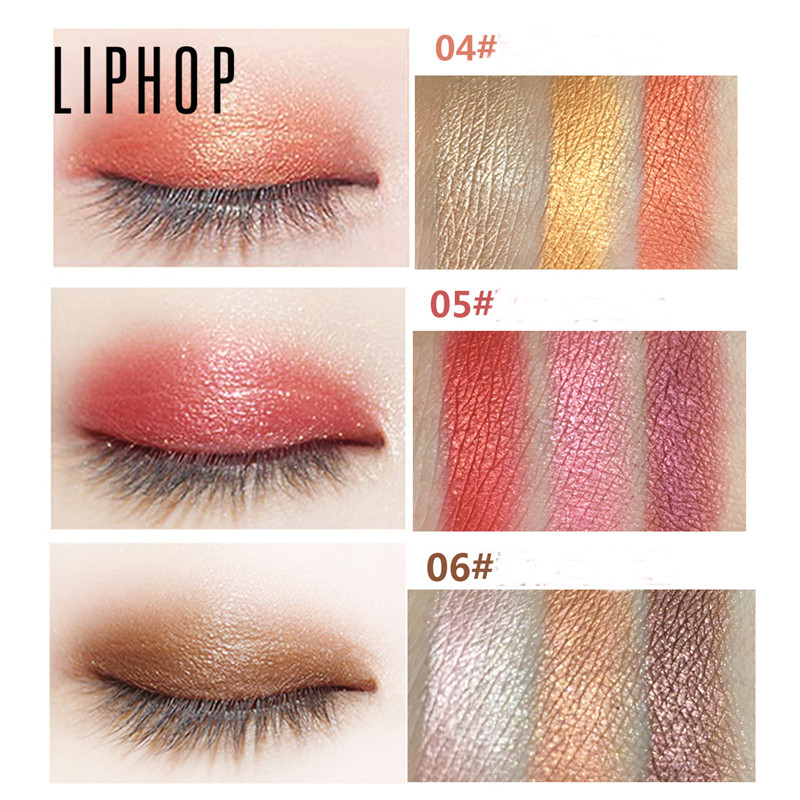 Free Shipping Liphop Wet Eyeshadow Make Up Pallete 3 Colors Gradient