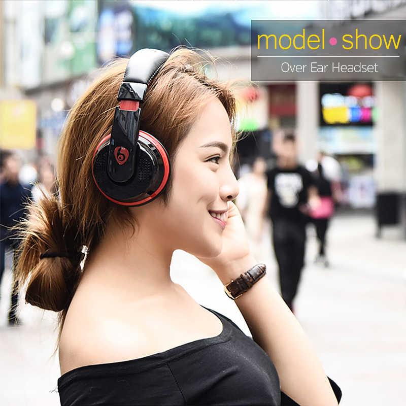 Над ухом Bluetooth наушники стерео Беспроводной наушники FM радио карты памяти MP3 плеер громкой связи С микрофоном