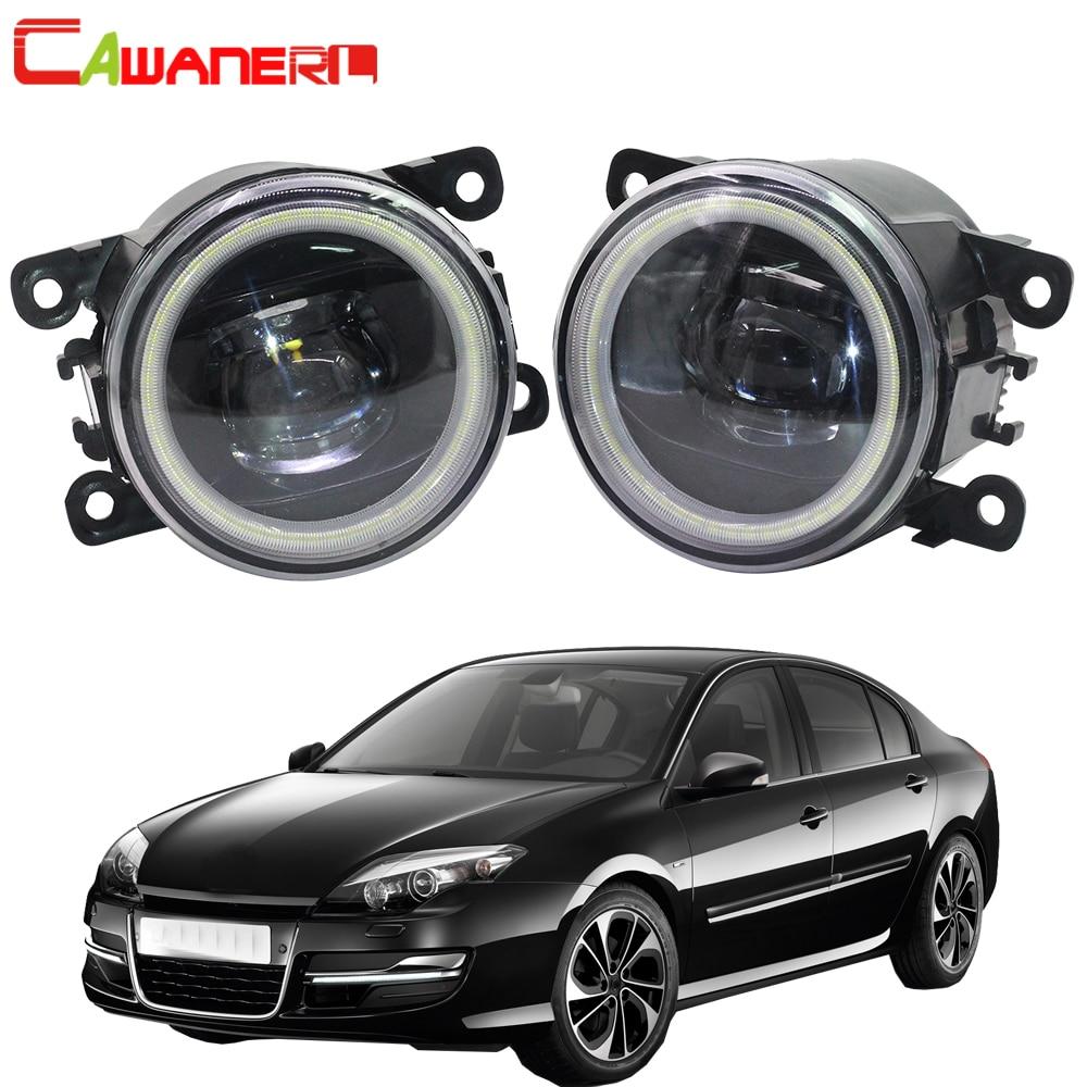 Cawanerl For Renault Laguna 2 3 2001 2015 Car Styling LED Fog Light Angel Eye DRL