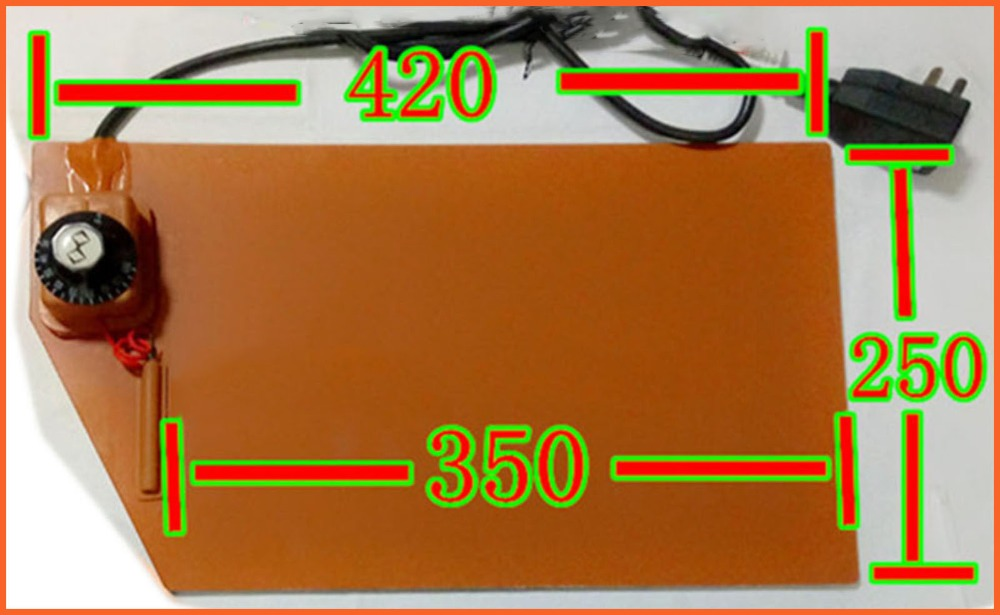 420*250mm220V Knob temperature control FPB split screen treasure,heating plate silicone heater pad element flexible element heat dia 400mm 900w 120v 3m ntc 100k round tank silicone heater huge 3d printer build plate heated bed electric heating plate element