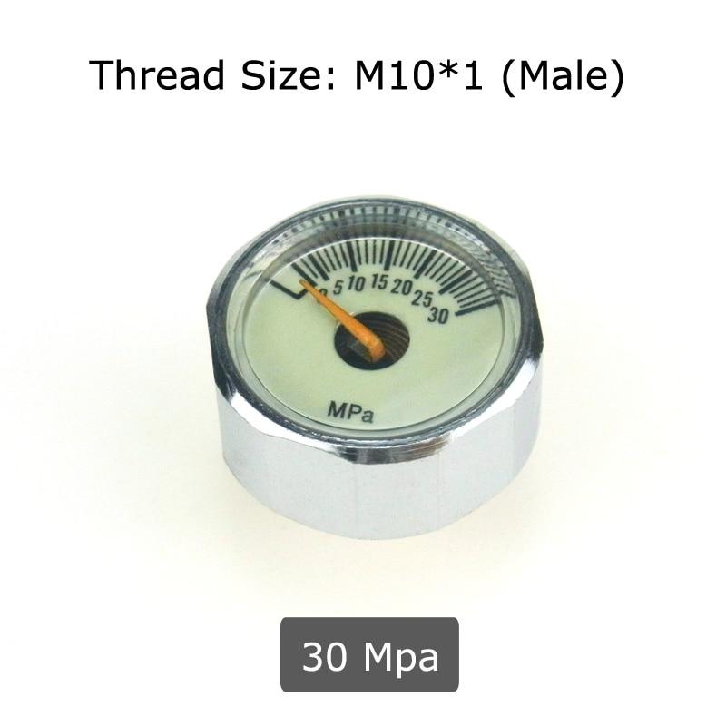 New Paintball Air Gun Airsoft PCP Mini Pressure Gauge Manometer 30MPa Air Acessorios With Luminous Night M10*1 Threads