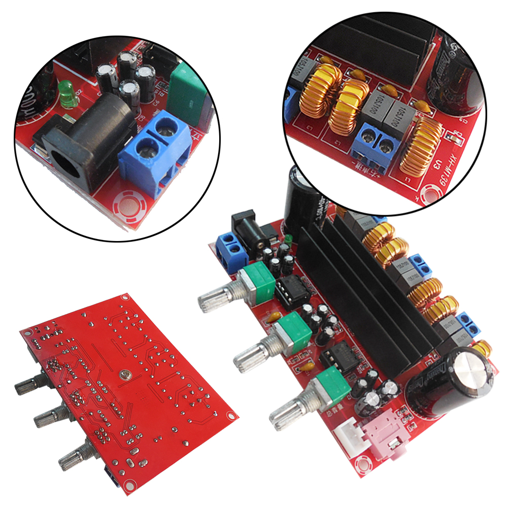 Tpa3116d2 Digital Amplifier Board Dc 12 24v 3 Channel High Power Electronic Circuits Part Efficiency Chips Loudspeaker Box 50w2 100w In From Consumer