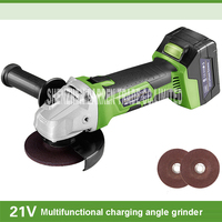 Charging Angle Grinder Cordless Dual Action Random Orbital Car Polisher With Battery Charger 21v 6000rpm 100mm