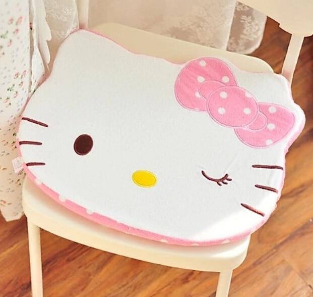 c52fd4f653a Super lindo 1 unid 46 cm punto dulce Hello Kitty felpa silla amortiguador  de peluche regalo romántico Día de San Valentín en De peluche y Felpa  Animales de ...