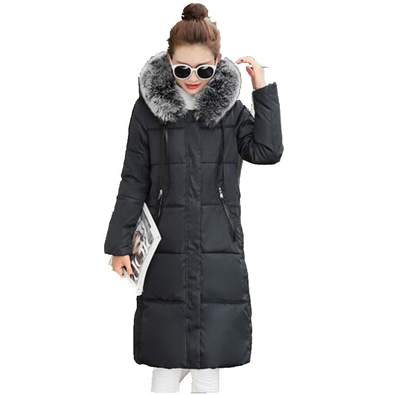2016 New Winter Elegant Women Coat Thicken Hooded High quality Down Jacket Coat Large size Warm