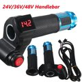 24V 36V 48V Universal E-Bike Electric Scooter Throttle Handlebar Hand Grips Digital Meter