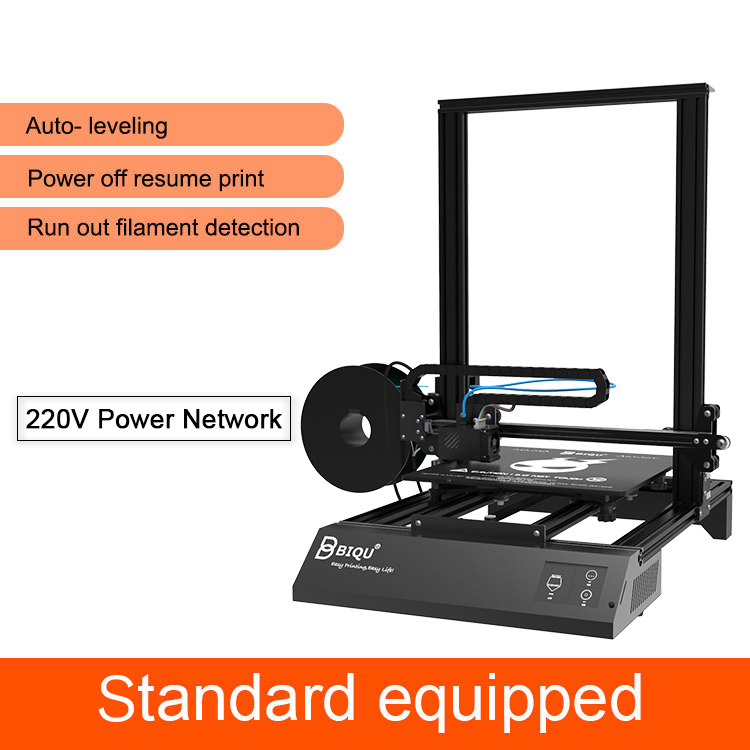 US $356 0 |BIQU Thunder 3d printer large size with APP Auto off and Power  off resume print option Dua Z Rod 3D Drucker Impresora 3d Parts -in 3D