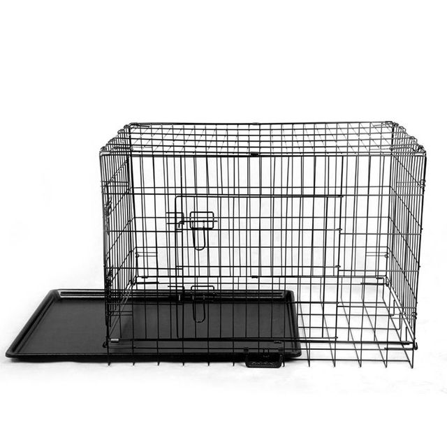 "2016 Rushed Time-limited Flue Type Lgp Ce Csa Newx-large 48"" Collapsible Metal Pet Puppy Dog Cage Crate Tray Kennel Portable"
