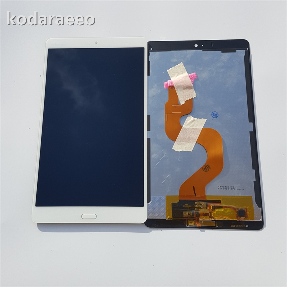 Kodaraeeo For Huawei MediaPad M3 8.4 BTV-W09 BTV-DL09 White Touch Screen Digitizer Sensor with Full LCD Display Panel Assembly new 7 for huawei mediapad t2 7 0 lte bgo dl09 lcd display matrix with touch screen panel digitizer full assembly parts