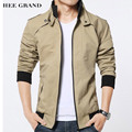 HEE GRAND Men Fashion Style Thick Jacket Stand Collar Thick Warm Padded Windproof  Late Autumn And Winter Overcoat MWJ2084
