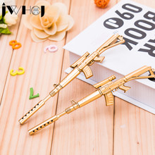 3pcs/lot Creative golden weapons rifle gel pen writing pen stationery office school Writing supplies stationery child's toy gift(China)