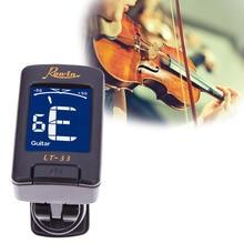 Mini Portable LT-33 Electronic Piezo Clip-on Chromatic Tuner Guitar Bass Ukulele Violin Chromatic Tuner for Musical Instrument