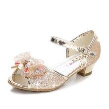 f4eac770cacaa ULKNN Filles Sandales 2018 nouvelle marée d été de filles rose chaussures  enfants princesse chaussures