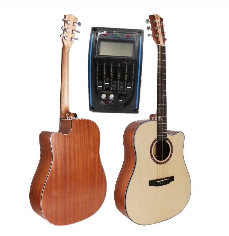 Финлей 41 электроакустическая Гитары, в разрезе ель Топ/красного дерева тело Гитары РА с пикап тюнер, созвездие накладку, FD 115CE
