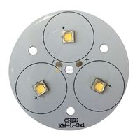Freeshipping 5PCS CREE Single Die XM L T6 10W White LED Light Emitter Bulb Mounted On