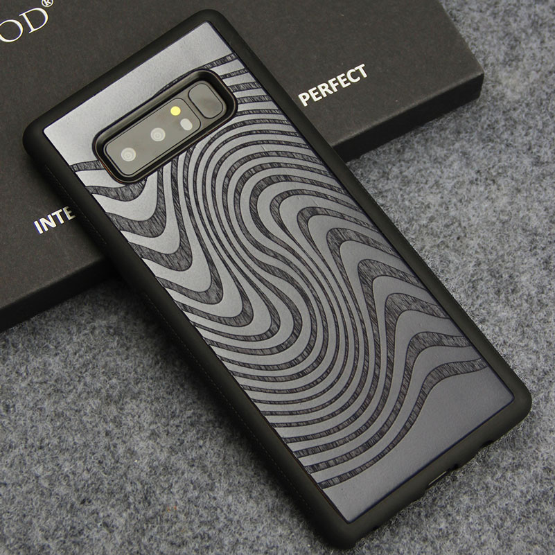 Luxury Phone Cases for Samsung Note 8 Note8 Case Cover Real Wood Hard Back Cover For Samsung Galaxy Note 8 2018 Coque