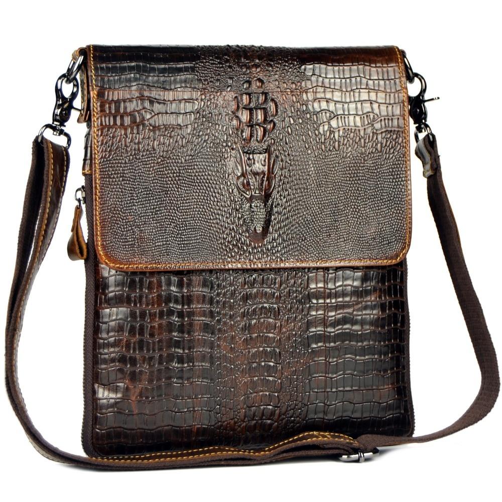 Äkta läderväska för män Crocodile Alligator Mäns Business - Handväskor - Foto 2
