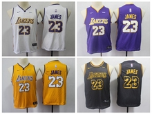 1b1d88cbc39 Youth kids 2019 New arrvail high quality Los Angeles LeBron James Lakers  jersey(China)